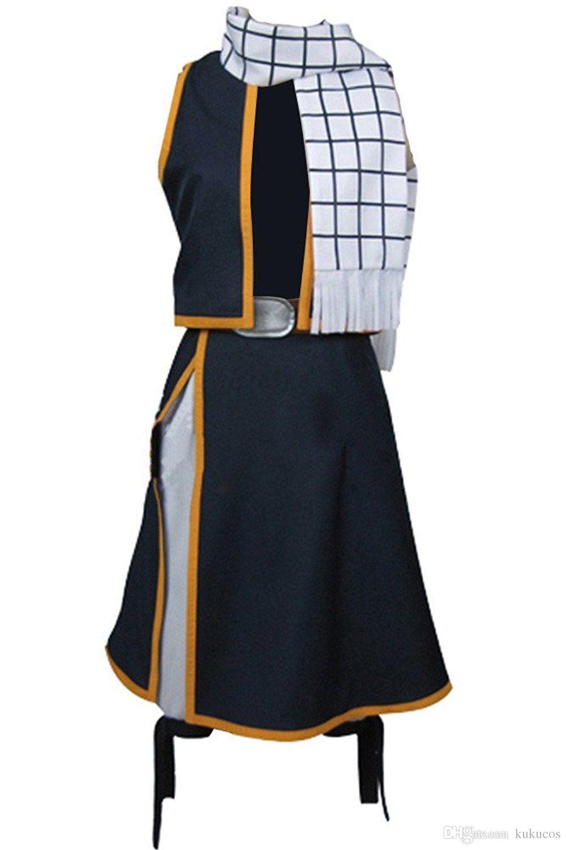 Kukucos Anime Fairy Tail Natsu Dragneel Costume Cosplay Vestito di moda per Halloween Party Male Size Miglior regalo per i fan