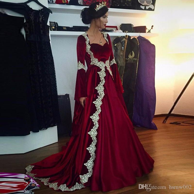 Elegant Burgundy Princess A-line Real Sample Evening Dresses Lace Appliques Sweetheart Long Sleeves Formal Party Prom Gowns Custom Made