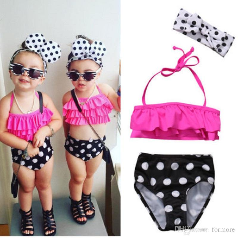Kids Baby Girls Bathing Suit Swimwear Bikini Set Tankini Swimsuit Beachwear US