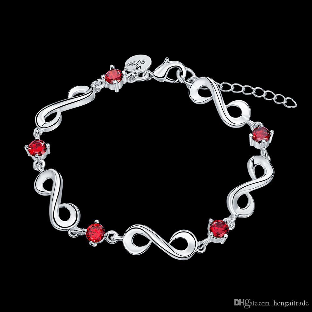 Бесплатная доставка Оптовая стерлингового серебра 925 покрытием Омаров Шарм браслеты LKNSPCH536