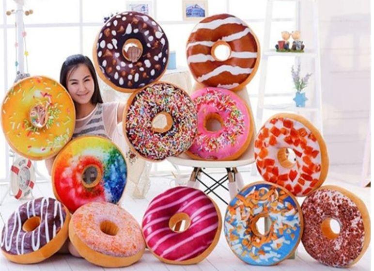 10PCS Xmas Christmas Gift doughnut Hamburger Cushion Emoji pillows lovely Cute plush toys doughnut Cushion for girl best present !
