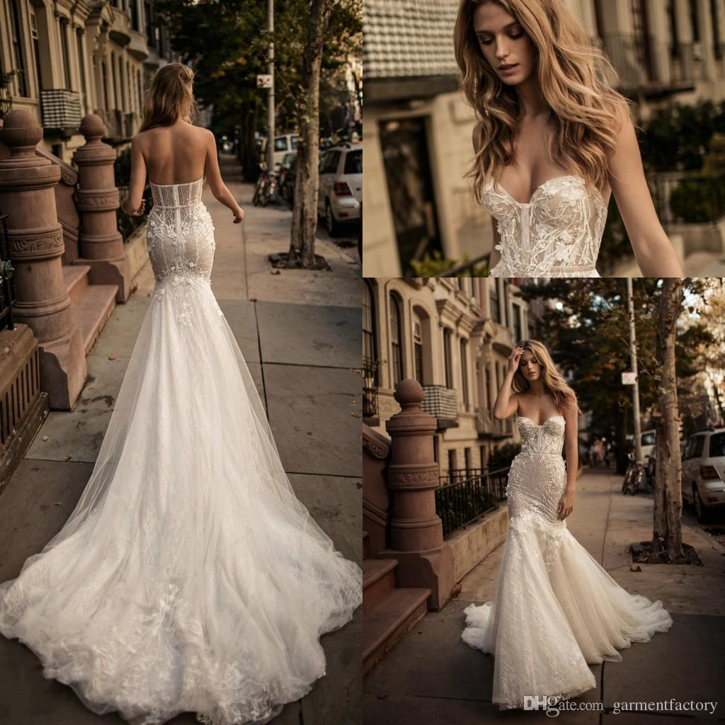 Berta bridal mermaid fall 2017 wedding dresses sweetheart bustier berta bridal mermaid fall 2017 wedding dresses sweetheart bustier 3d floral appliques champagne tulle and shiny glitter fabric wedding gowns 2018 from junglespirit Image collections