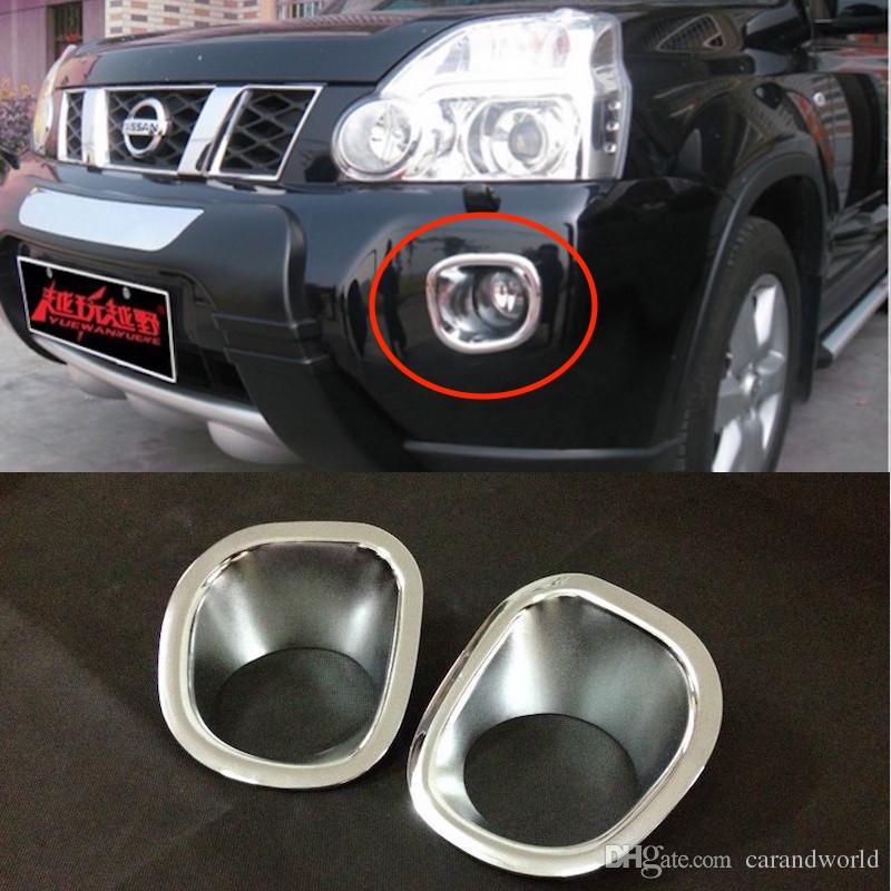 For Nissan X-Trail T31 Fog Lights Cover Trim Front Lamp Decoration X Trail 2008 to 2011 ABS Chrome Car-styling Accessories
