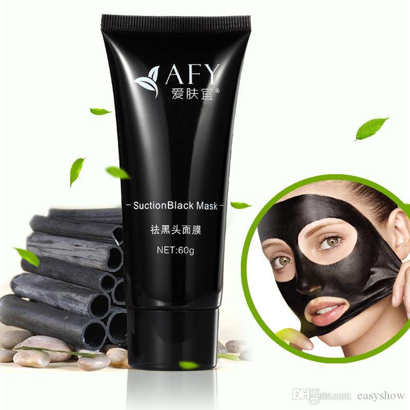 ORIGINAL AFY 24k succión de caracol Máscara negra de limpieza profunda mascarilla facial Maquillaje de espinilla negra Eliminador de acné Máscaras de barro negro Maquillaje de belleza