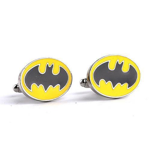 Европа и Соединенные Штаты мода запонки Бэтмен логотип мужчины и женщины универсальный рукав ногтей рубашка запонки