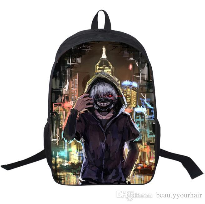 3D Cool Tokyo Ghoul Kids Backpacks Unisex Boys Girls Outdoor Sport Travel  Shoulder Bags Rucksacks School Bags Leather Backpack Sale All Backpacks  From ...
