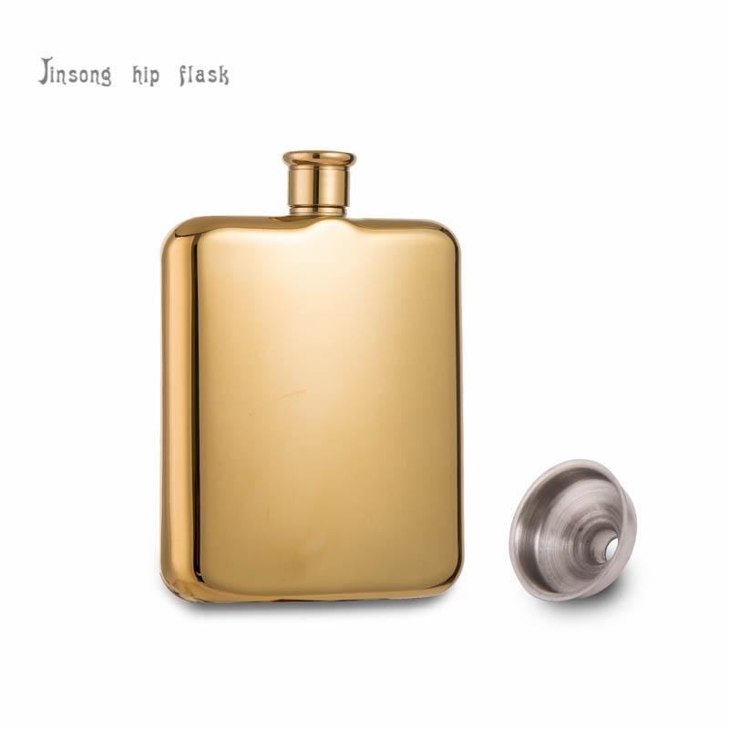 6 أوقية ذهب أو وردة ذهبية مطلي الفولاذ المقاوم للصدأ قارورة الورك