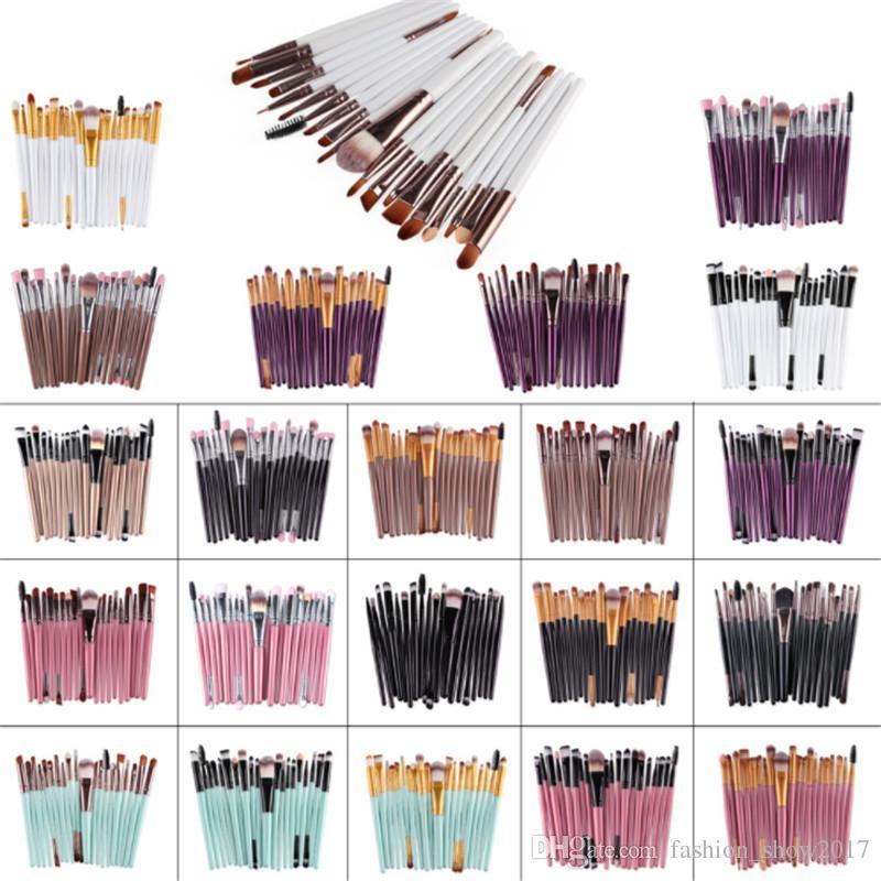 مجموعة فرش مكياج مكونة من 20 قطعة ماركة فراشي مكياج