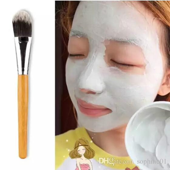 الجملة جديد ماكياج فرشاة امرأة الخيزران التعامل مع قناع الوجه فرشاة ماكياج فرشاة المكياج فرش الوجه