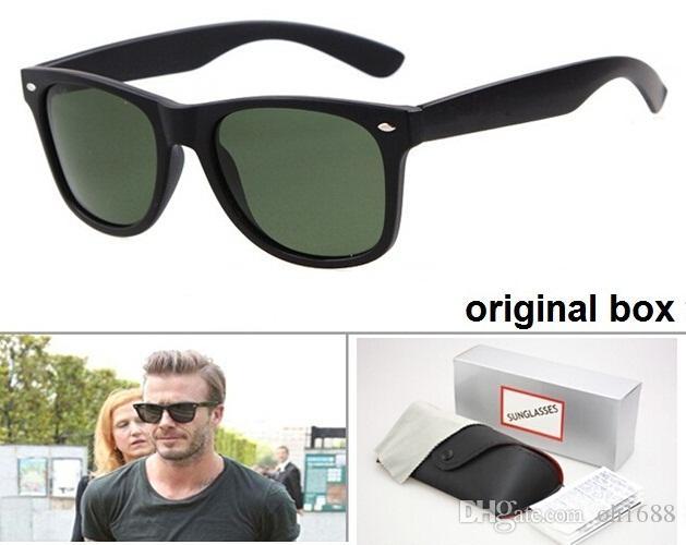 박스 및 케이스와 고품질 브랜드 디자이너 패션 남성 선글라스 UV400 보호 야외 스포츠 빈티지 여성 선글라스 복고풍 안경