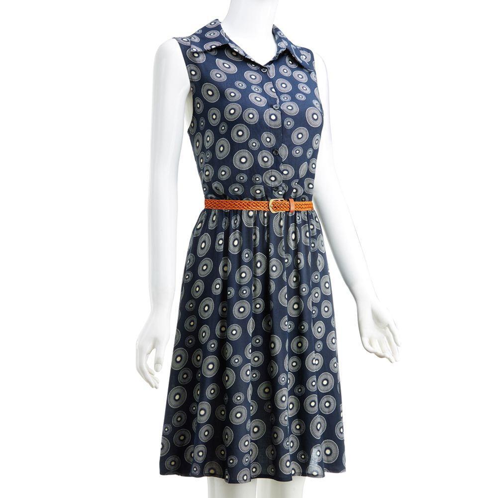 Vestido ocasional de las mujeres del verano Retro Vestidos de la vendimia Floral Print Dot Robe Femme Rockabilly Plus Size Pinup Swing vestido de fiesta