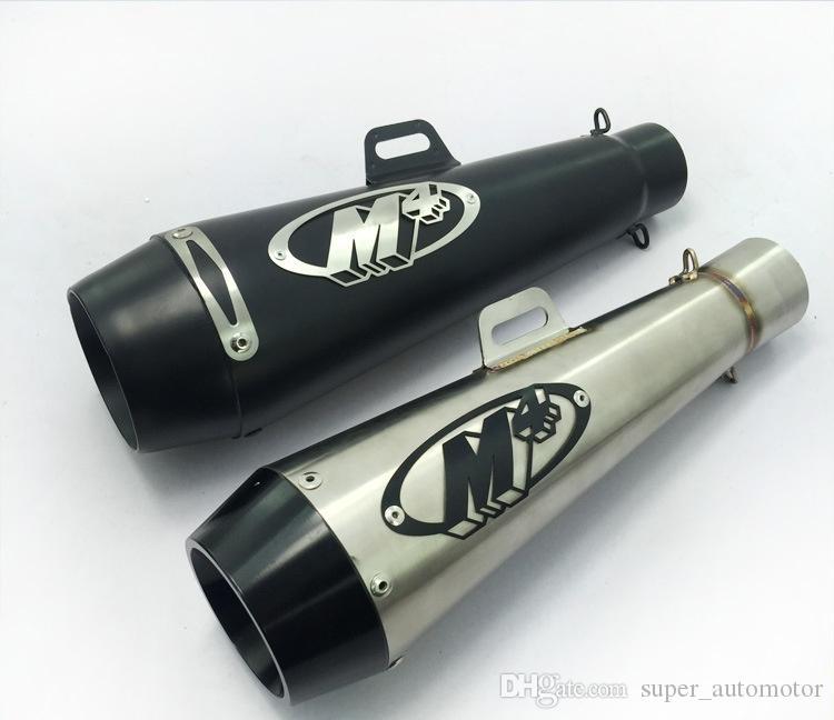 Silenziatore di scarico universale per moto M4 Marmitta 51mm per YAMAHA R6 EN-6R Honda CBR600 GP nero