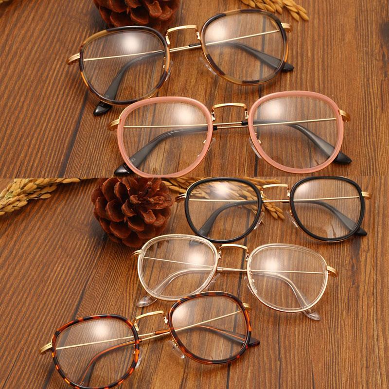 Toptan-Retro Erkekler Kadınlar Gözlük Çerçeve Şeffaf Lens Gözlük Gözlük Gözlük Sıcak