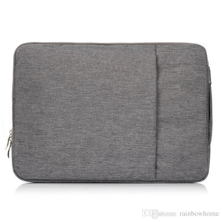 جان الدنيم النسيج حمل حقيبة واقية حالة كم حقيبة ل macbook air pro الشبكية 11 13 15 بوصة محمول pc العالمي زيبر