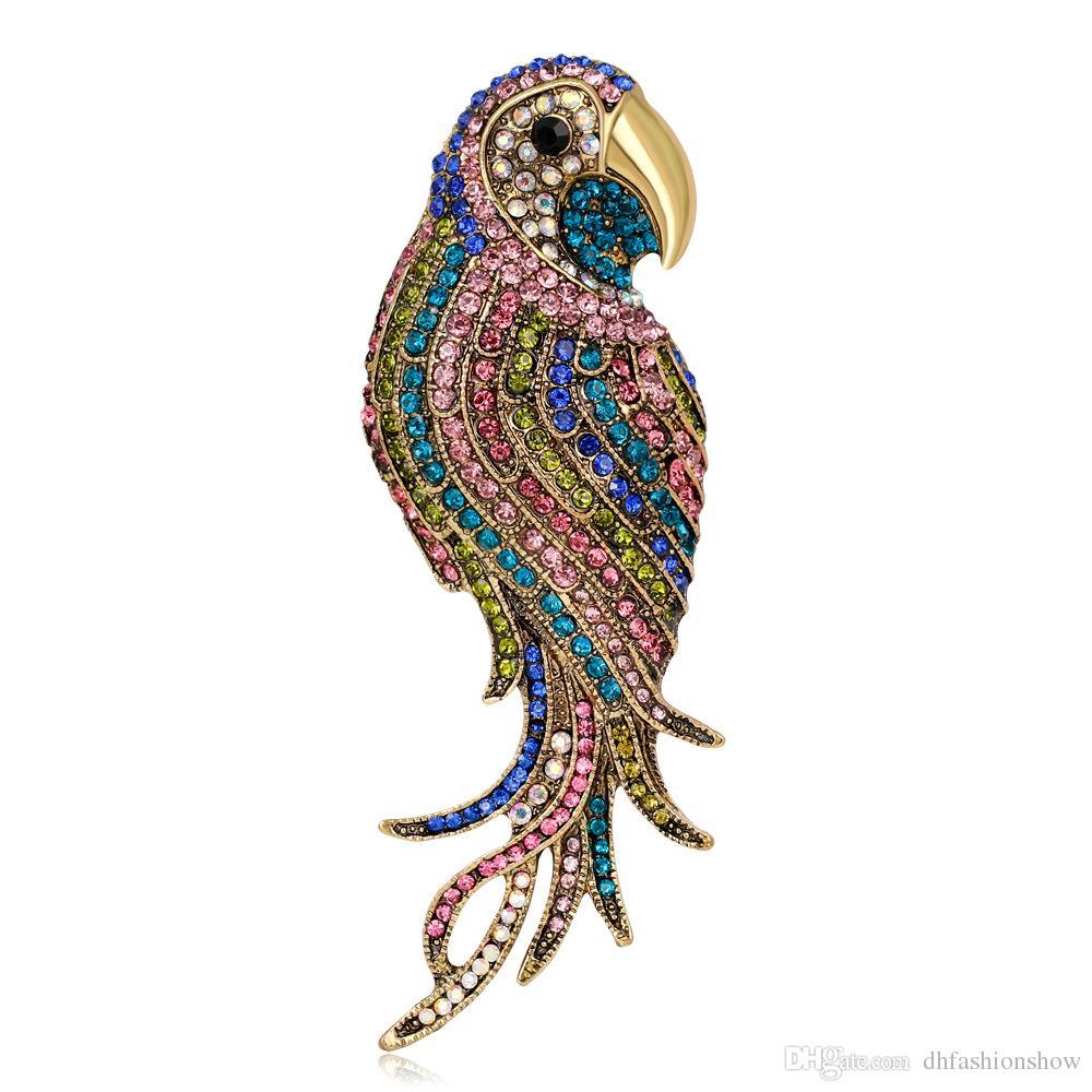 Mode Vogel Broschen für Frauen Hochzeit Ahle große Insect Pins und Broschen Damen Broschen Schal Kleidung Hijab Pins Up