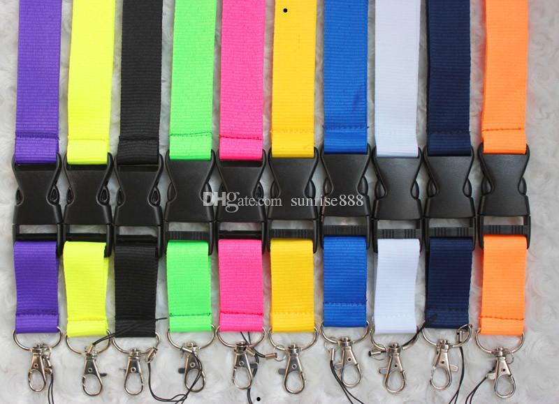 الجملة 300 قطع بلون إدراج مشبك الهاتف الحبل أزياء مفاتيح حبل الرقبة حبل بطاقة حبل 649