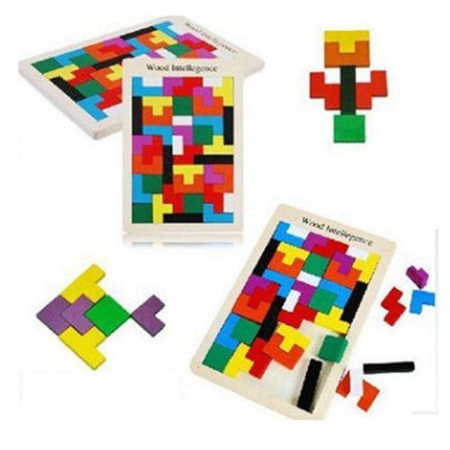 Montessori Educational toys for baby kids preschool toys mathematics wooden toys intelligence Russian blocks Tetris brinquedos
