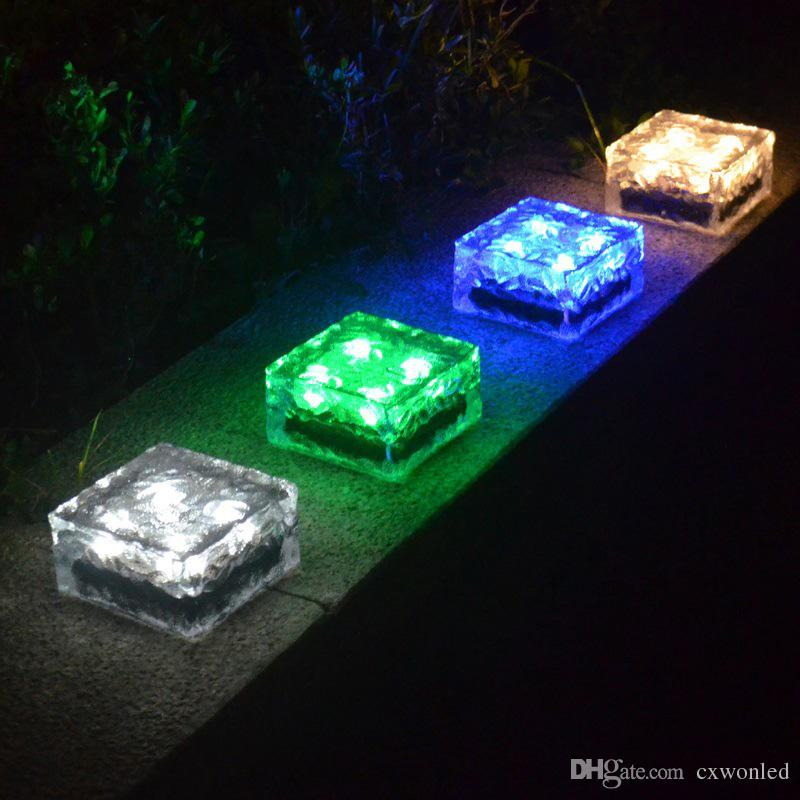 LED Güneş Su geçirmez Açık LED Güneş Işıklar Cam LED Peyzaj Bahçe Yolu Işık Bahçe Güneş Işık Çim Işık lambalar