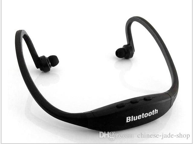 Auricular estéreo del auricular inalámbrico S9 Deportes Bluetooth banda para el cuello Peal 100pcs / lot PAQUETE de PVC