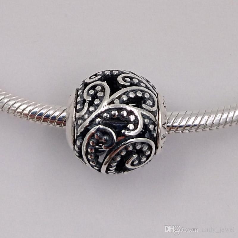 Authentic 925 sterling silver perline perline libertà charms adatti collana di braccialetti di gioielli in stile Pandora europeo 796012