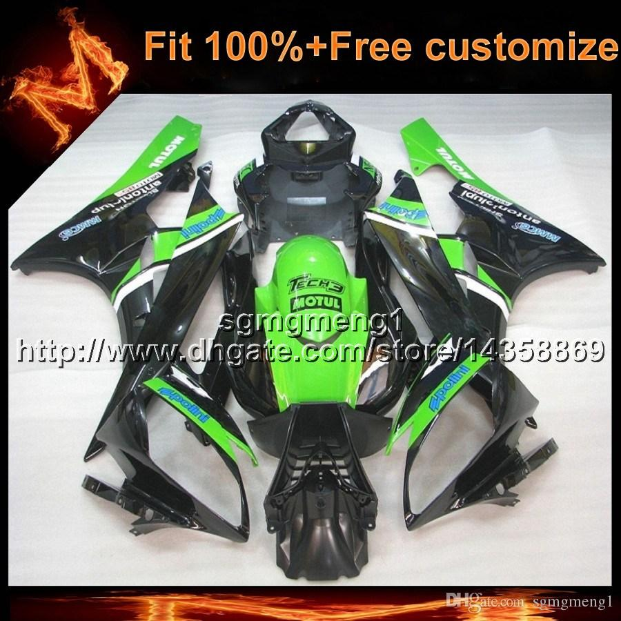 23colors+8Gifts Injection mold GREEN motorcycle hull for Yamaha YZF-R6 2006-2007 06 07 YZFR6 2006 2007 06-07 ABS Plastic Fairing