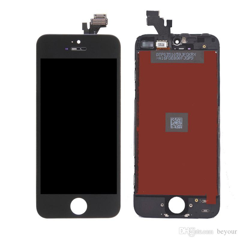 LCD for iPhone 5G 5S 5C SE Touch Screen Complete Display with Frame Digitizer Assembly Replacement Parts A+++ Quality No Dead Pixels