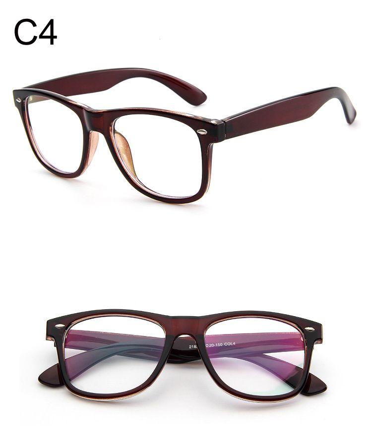 Großhandel Mode Klare Gläser Männer Gefälschte Gläser Platz Brillen ...