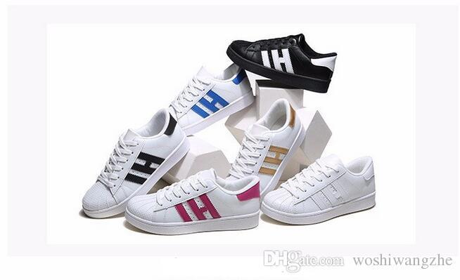 HOT! Men & Women Shoes Flat bottom plate 2017 direct selling business seven colors shoes casual couple shoes size 36-44