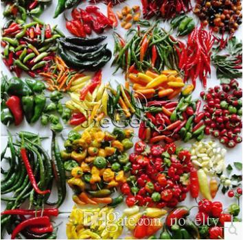 100pcs/bag, mixed different pepper seeds of vegetables, non-gmo vegetable seeds, free shipping!