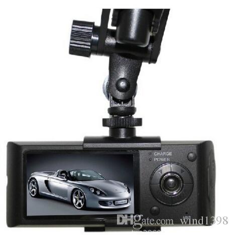 """Vente chaude Double Caméra De Voiture DVR R300 externe GPS3D G-Sensor 2.7 """"TFT LCD X3000 FHD 1080 P Cam Caméscope Vidéo Enregistrement de Cycle"""