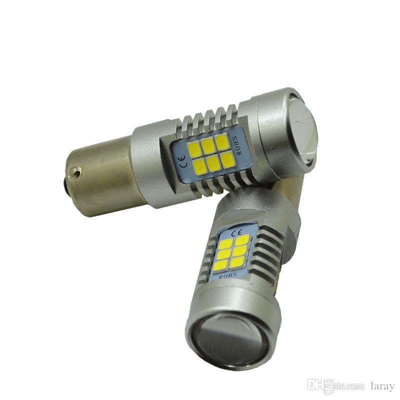 10 PC S25 BAY15D 1157 21 SMD 12V 24V 자동지도 된 자동차 반응성있는 전구 후방 방향 신호 램프 브레이크 빛