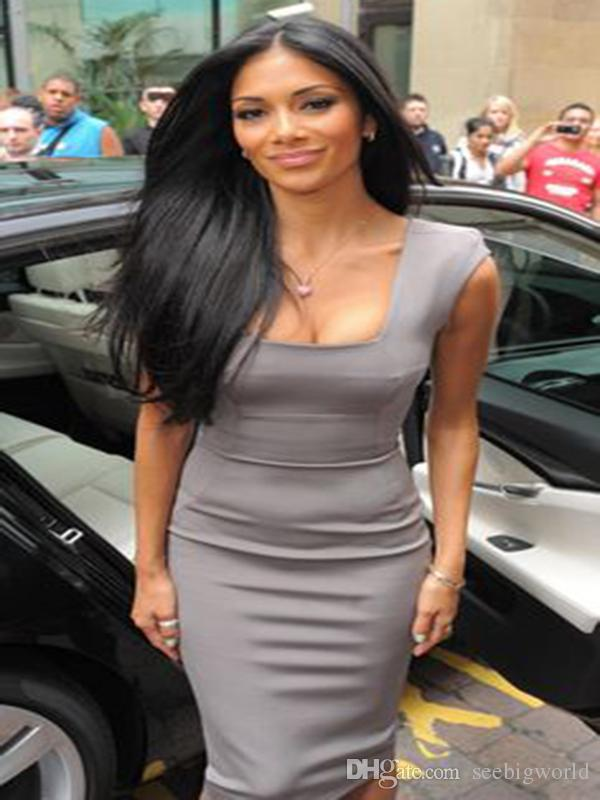 perruque nouveau style naturel brazilian Cheveux longs Silky droite Simulation perruque droite soyeuse cheveux humains pour les femmes noires en stock pour dames