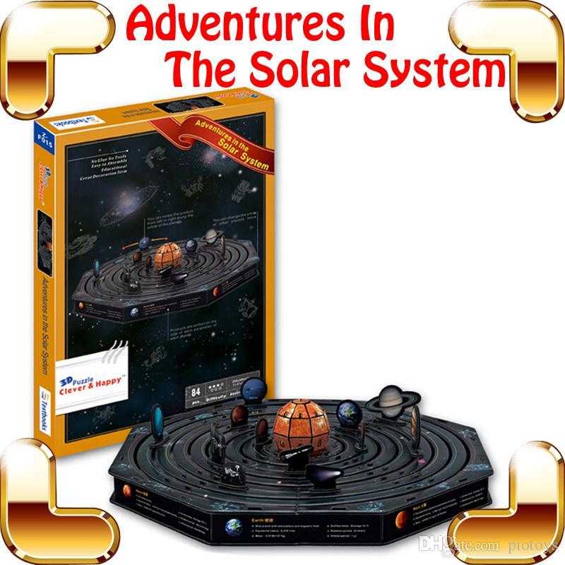 Nouveau cadeau à venir solaire Syetem 3D modèle Astronomie Puzzle Jouet Éducatif DIY Connaissance Apprentissage Puzzle Jeu Décoration Décoration