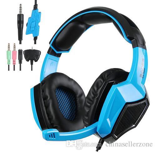 Sades SA920 PS4 PC Gamer Oyun Kulaklık 3 in1 Stereo Oyun Kulaklıklar Cep Telefonu Xbox360 Tablet için Mic Ses Kontrolü ile