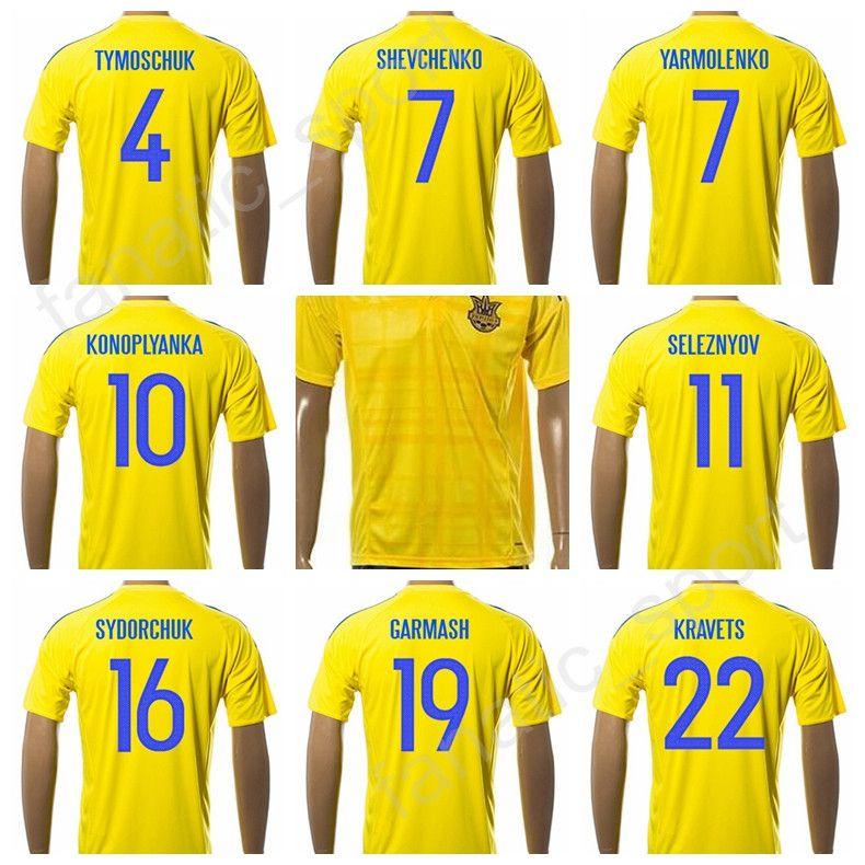 2020 Thai Quality Ukraine Jersey 2017 18 Soccer National Team 7 Shevchenko Football Shirt Uniform 10 Konoplyanka 11 Seleznyov 22 Kravets 9 Gusev From Fanatic Sport 14 54 Dhgate Com