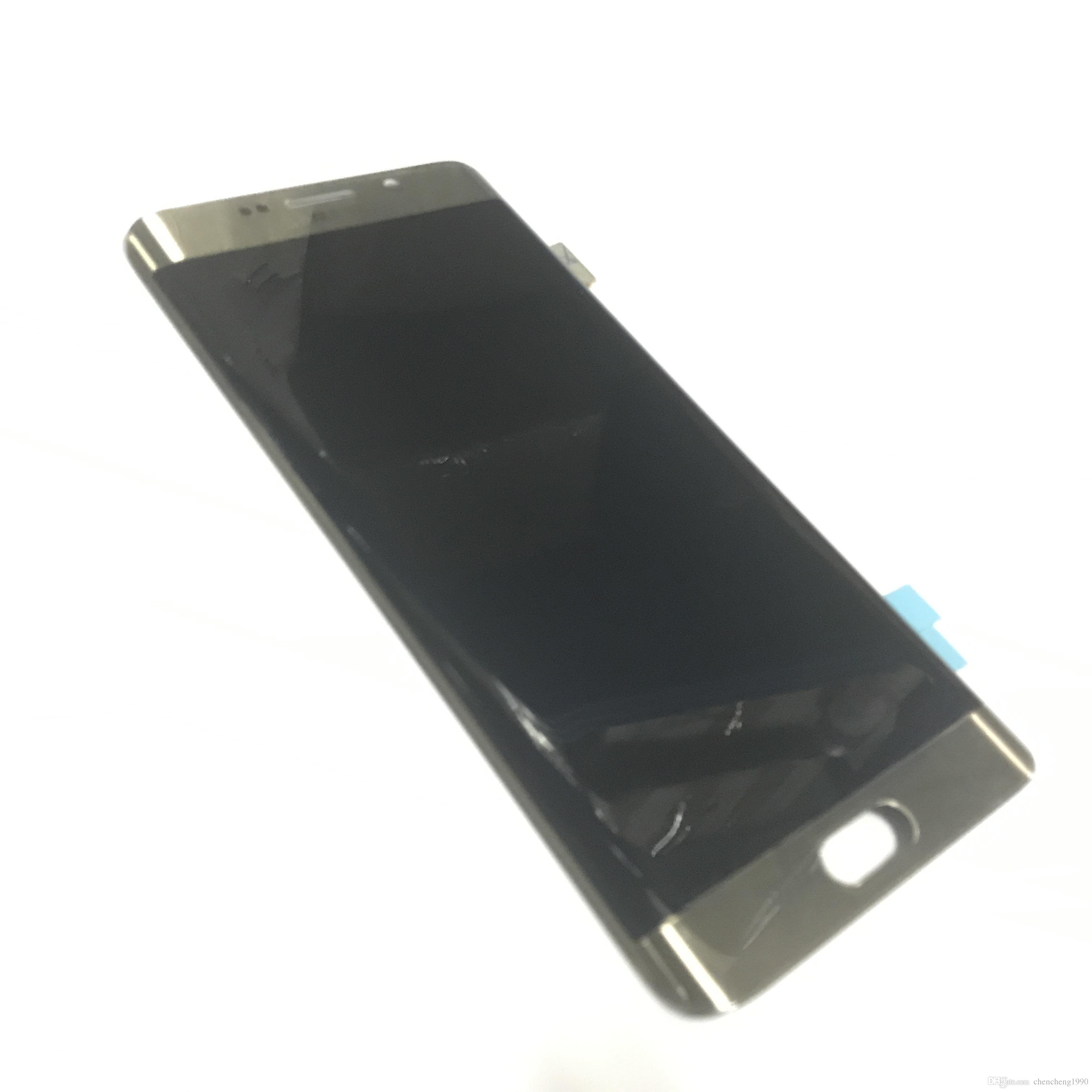 YENI Samsung Galaxy S6 Kenar Artı G928F G928A G928V G928T G928P LCD Digitizer Meclisi Orijinal LCD Ekran Dokunmatik Ekran PANELI