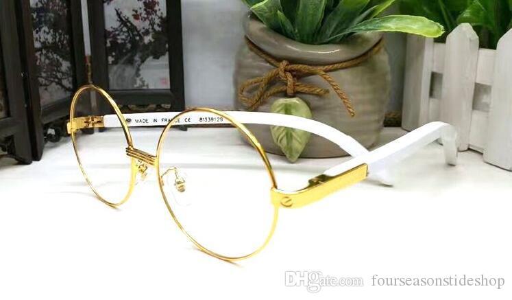 moda 2020 óculos de sol de madeira para Homens mulheres retro chifre de búfalo óculos polarizados sem aros redondos cinzentos lentes claras lunetas gafas