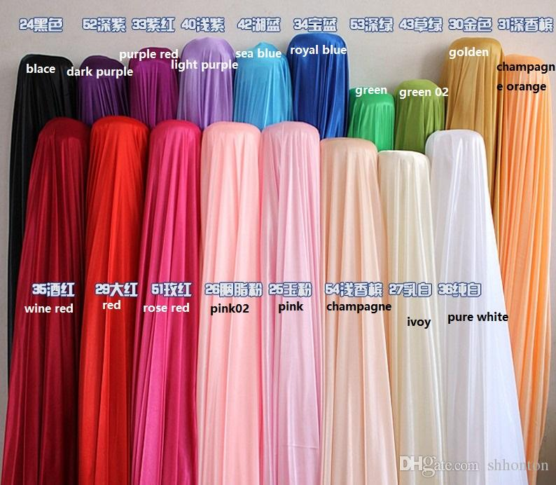 Silk fabric wedding backdrop Width 150CM/59inch Satin Fabric Decoration Solid Color Cloth/Performance Clothing Fabrics Clothing Lining WT017