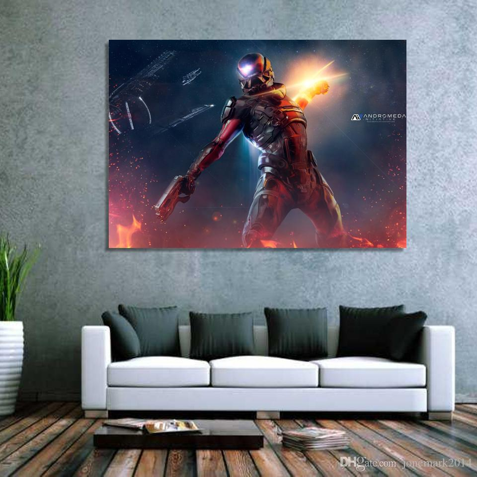 Mass Effect Andromeda Wall Art Canvas Pictures For Living Room Bedroom Home Decor Printed Paintings