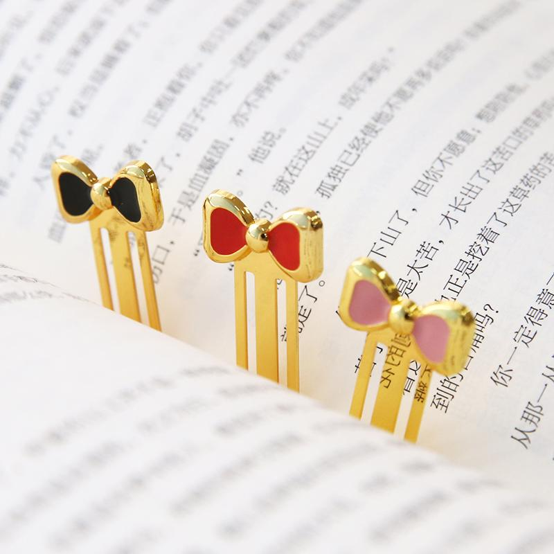 15 Pcs/Lot Mini Metal Bowtie Book Mark Sweet Paper Clip Book Markers Gift Stationery Office School Supplies Marcalibros