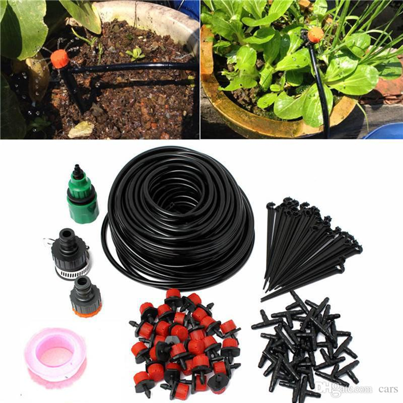 Micro Water Irrigation System Garden Greenhouse Plants Automatic Watering Garden DIY Hose System Adjustable Can Be Closed Kit 10M