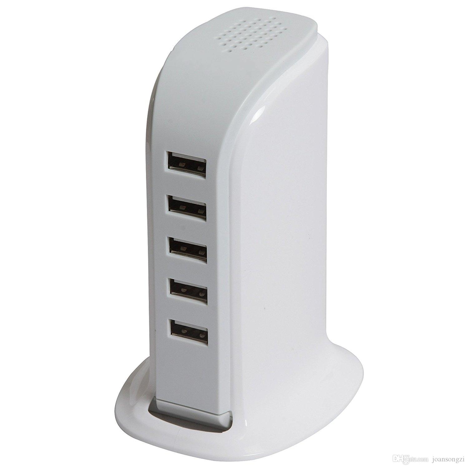 5V 6A Mobile Chargers 6 Port USB Charging Station Socket 30W Desktop USB Charger Power Adapter Rapid Charging for iPhone Samsung and More