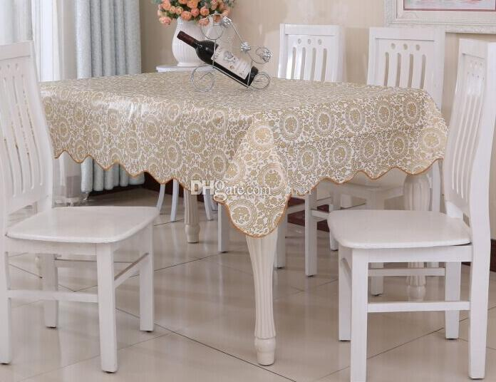 New Waterproof Oilproof Wipe Clean Pvc Vinyl Tablecloth Dining Kitchen Table Cover Protector Oilcloth Fabric Covering Linen Tablecloths Cheap Cheap