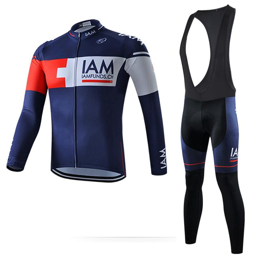 2017 spring /Autumn Long Sleeve iam Team men's bicycle jersey Cycling Jerseys mtb bike Clothing quick dry Ropa Ciclismo hombre A0402