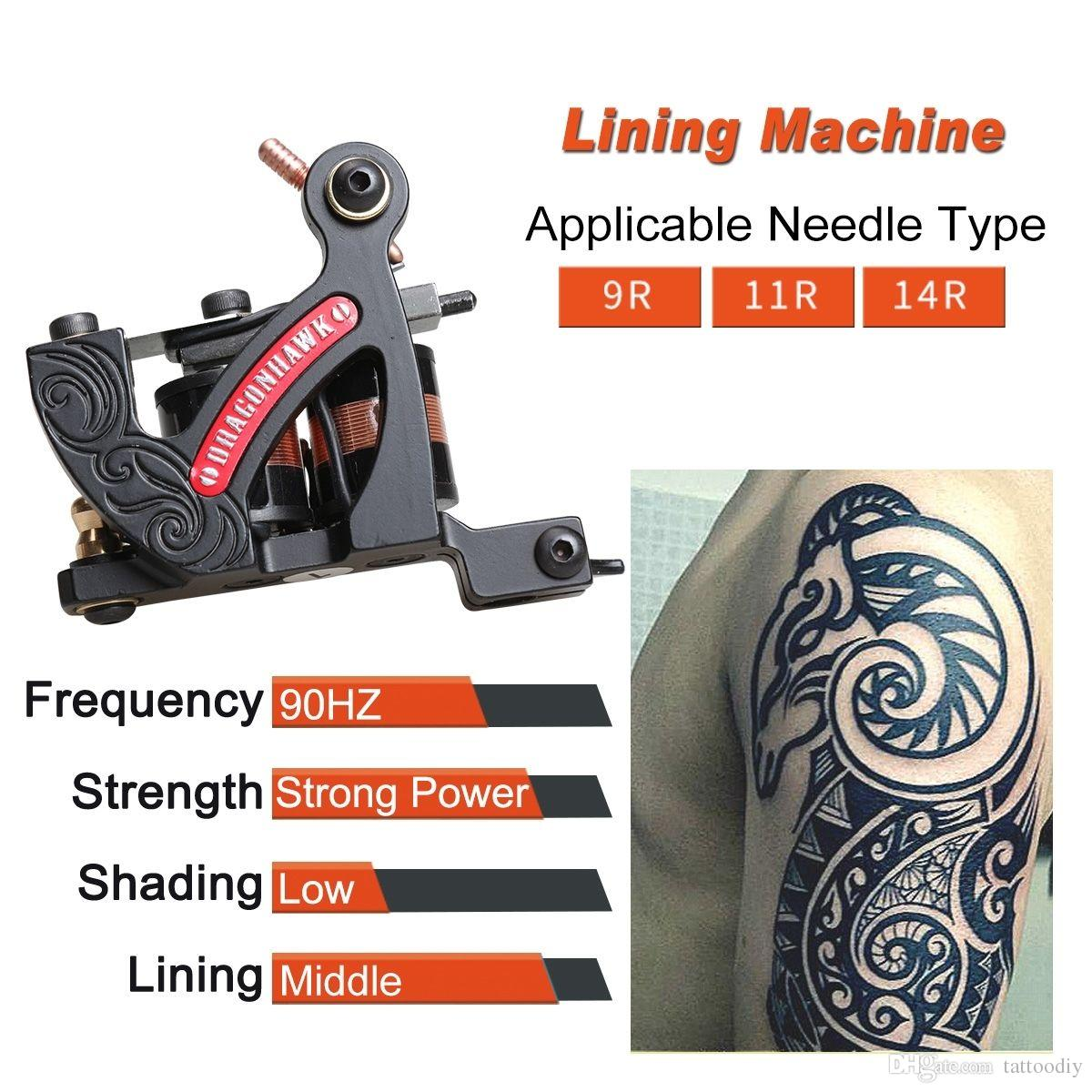 Cast Iron tattoo coil machine liner gun bold lining machine cool design black best price WQ4458