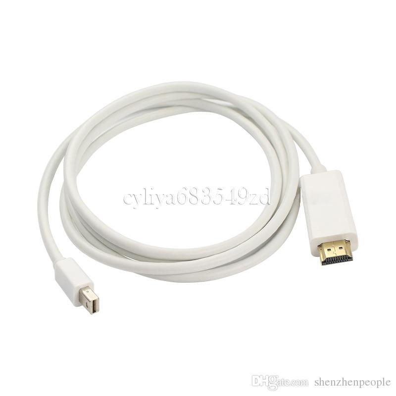 Cable Mini DP a HDMI Cable Mini DisplayPort dorado a HDMI Cable HDTV para computadora Dell Lenovo MacBook Microsoft Surface