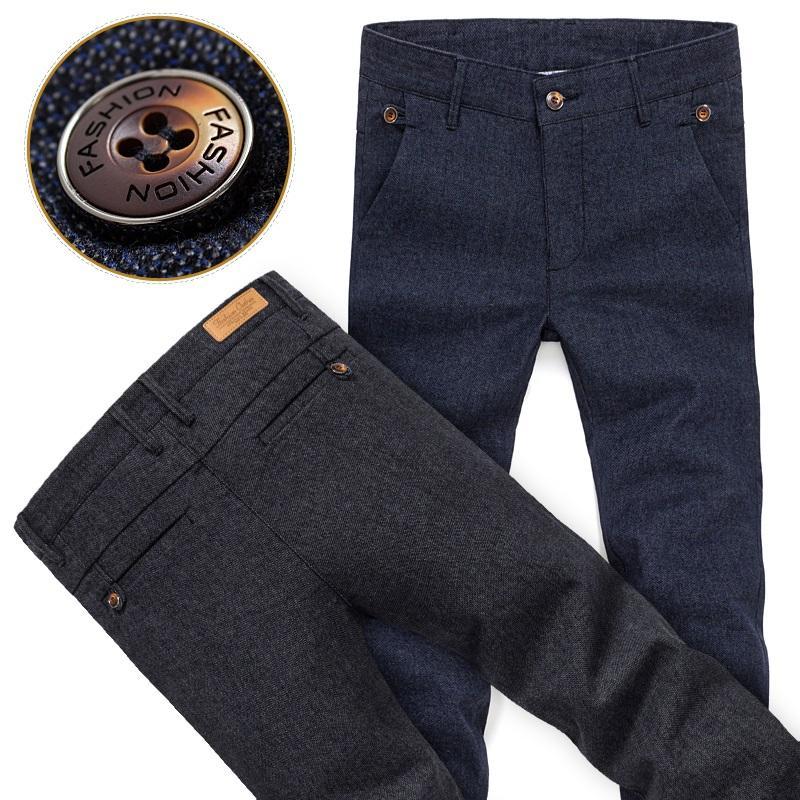 Toptan Satış - Toptan-Katı Renk Yaz Sonbahar Moda Business Casual Erkek İnce Düz Casual Uzun Pantolon Renkli Marka Erkek İş İş Resmi