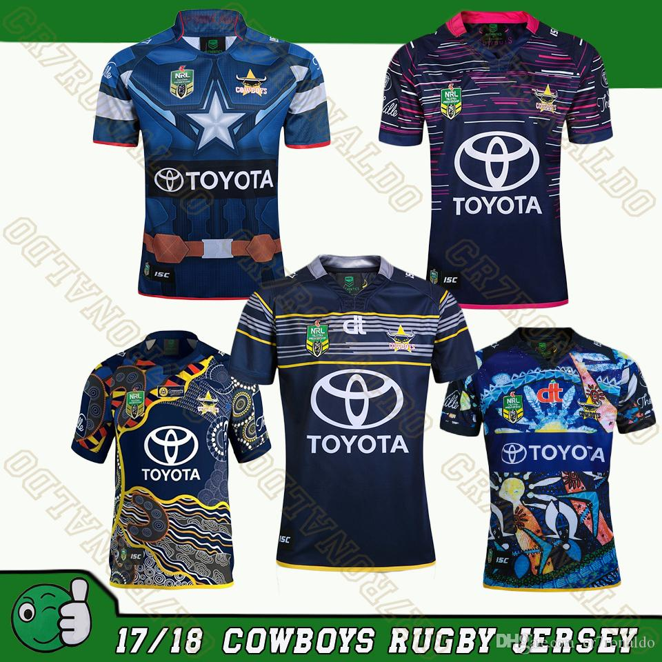 new styles 42f07 93d68 2019 North Queensland Cowboys NRL Rugby Jerseys 2017 Home Away Special  Limited Edition 17 18 Rugby Shirt From Cr7ronaldo, &Price; | DHgate.Com