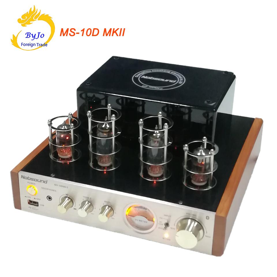 Nolound MS-10D MKII-Röhrenverstärker HiFi-Stereo-Stecker-Verstärker 25W * 2 Vaccum-Röhren-AMP-Träger Bluetooth und USB 110V oder 220V