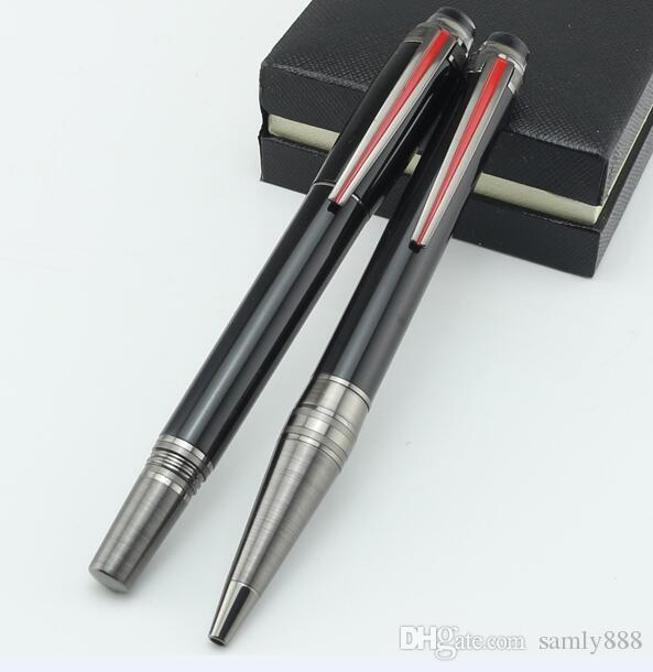 Chegam novas Urban Speed Caneta Esferográfica de luxo preto resina rollerball pen PVD-revestido acessórios para escrever escritório papelaria presente